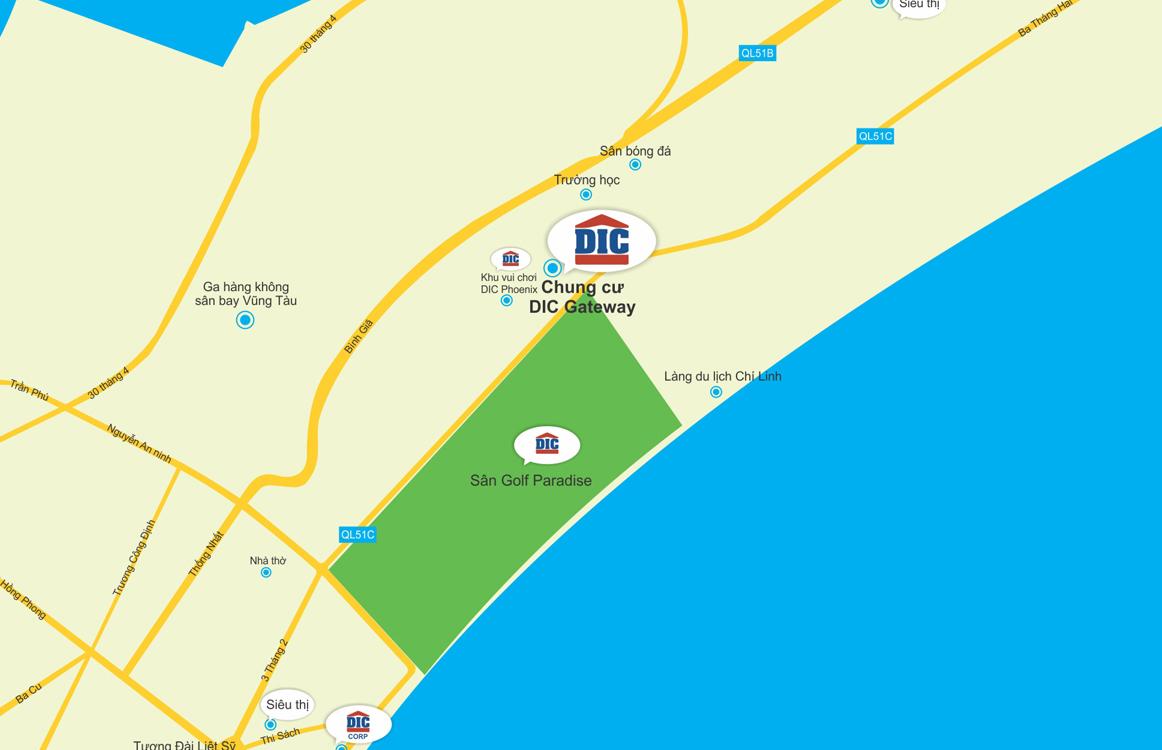 vị trí căn hộ gateway Vũng Tàu