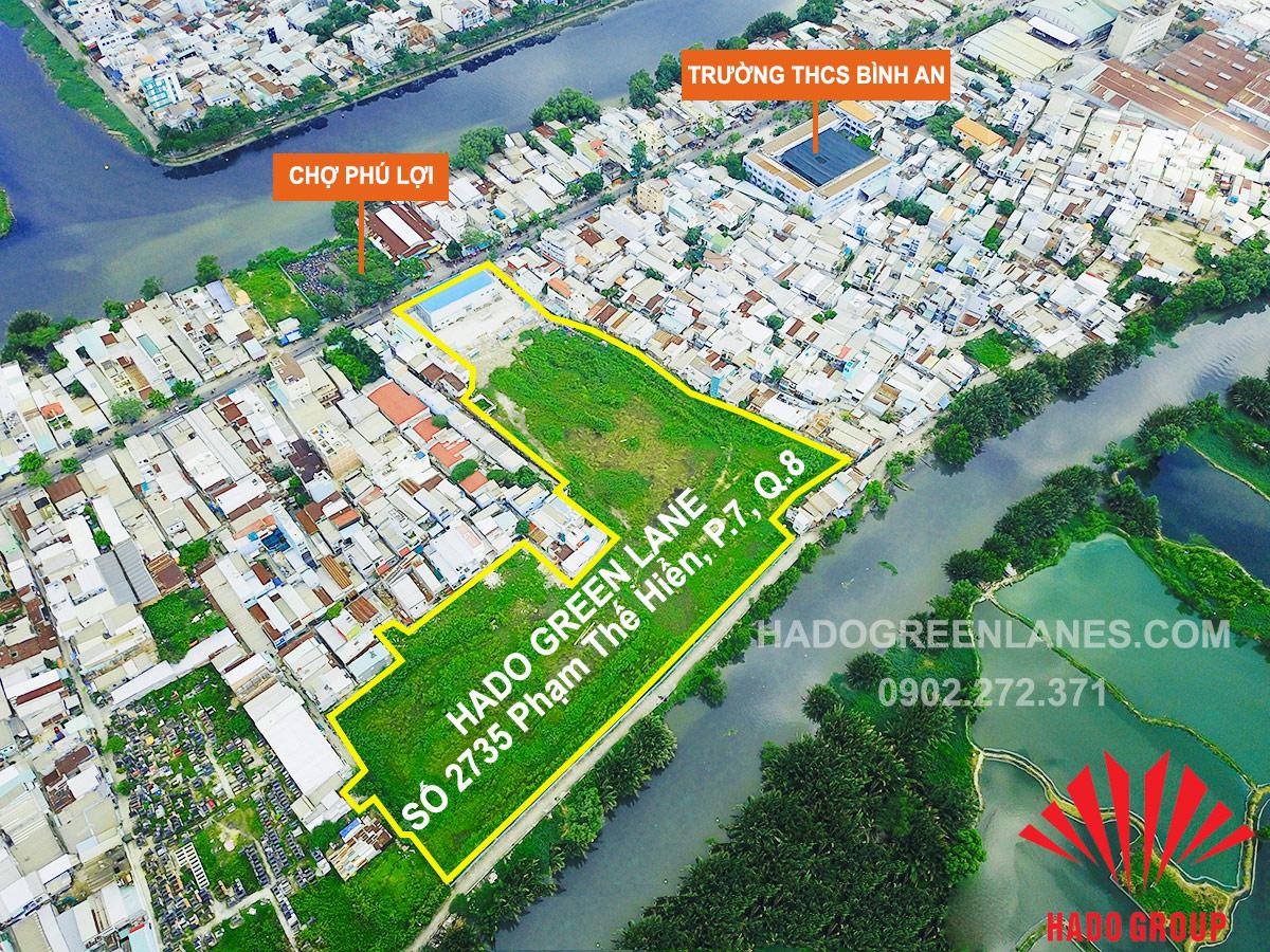 vị trí căn hộ hado green lane quận 8